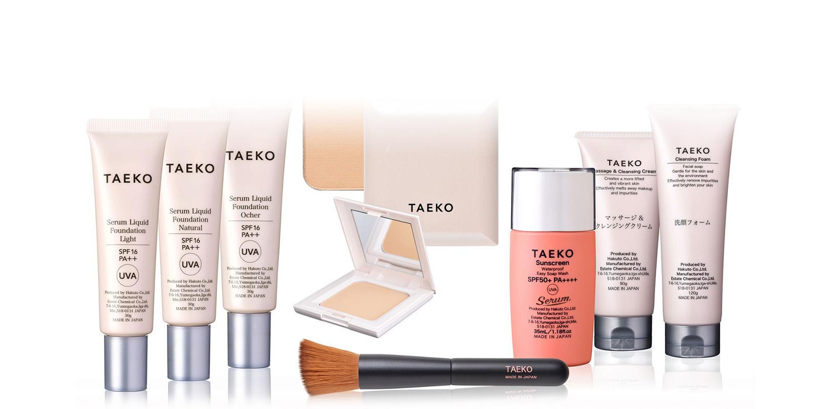 潤い化粧品taekoラインナップ