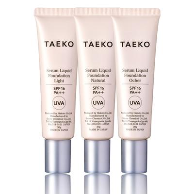 画像1: TAEKO 美容液ファンデーション 3色セット ライト/ナチュラル/オークル (1)